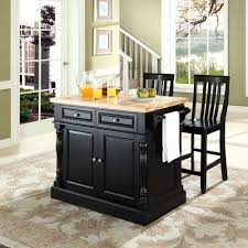 kitchen island with butcher block small modern black kitchen island with drawer and bamboo butcher