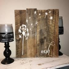 custom barn wood sign wish rustic barn wood dandelion make zoom