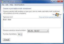free math worksheet generator for students from microsoft