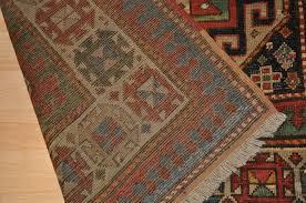 antique caucasian moghan kazak rug oriental