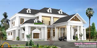 Kerala Home Design Kottayam Colonial Type Slope Roof Home Kerala Home Design And Floor Plans