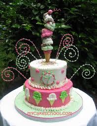 ice cream cone cake topper video my cake