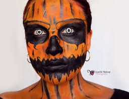 Skeleton Face Paint For Halloween by Halloween Makeup Tutorial Evil Pumpkin Makeup Halloween