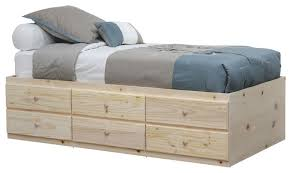 Bed Frame With Drawers Unfinished Platform Bed With Drawers Chest Of Drawers