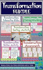 Transformations Geometry Worksheet 55 Best Math Transformations Images On Pinterest Teaching Ideas