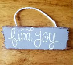 hand painted cute small rustic primitive find joy wood sign home