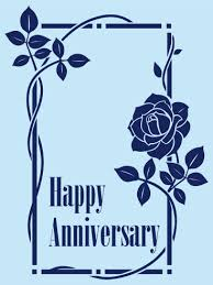 blue happy anniversary card birthday greeting cards by davia