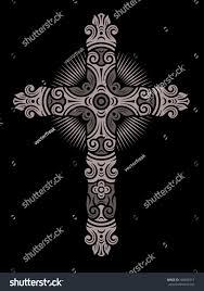 antique cross ornament stock vector 166056317