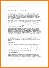 9 resume headline examples self introduce