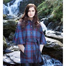 plaid irish cape women u0027s belted jacket celtic clothing company