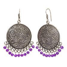 designer handmade jewellery the indian handicraft store oxidised silver flower with