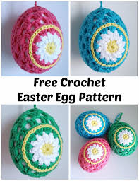 Easter Decorations To Crochet by Dinki Dots Craft Daisy Crochet Easter Eggs Pattern Hobbycraft