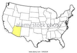map of the united states with arizona highlighted map united arizona highlighted stock photos map united arizona