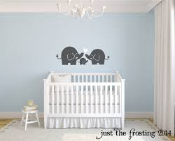 elephant family wall decal nursery elephant wall decal baby