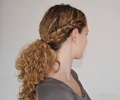hair braided into pony tail the half french braid ending in a ponytail tutorial