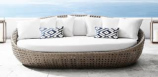 Outdoor Sofa Bed All Weather Wicker Performance Weaves Rh