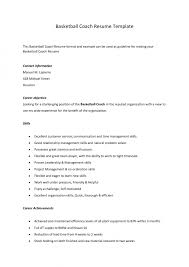 Cover Letter Sle High School Basketball Coach Cover Letter Basketball Coach Resume