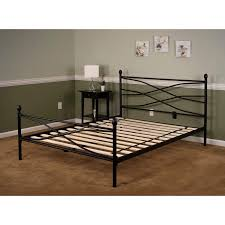bed frames metal king headboard and footboard white metal bed