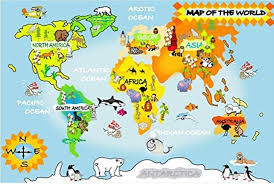 children s world map mural wall murals you ll love por map kid lots from china