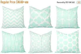 Etsy Decorative Pillows 15 Off Sale Mint Pillow Covers Mint Green And White Throw