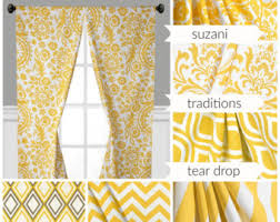 gray blue yellow curtains window treatments floral curtain