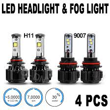 Fog Light Led Bulbs by 4x Dual Beam Headlight U0026 Fog Light Bulb Combo 9007 U0026 H11 Led B