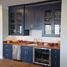 blue kitchen cabinets with wood countertops kitchen design decor photos pictures ideas inspiration