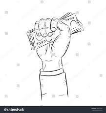 hand holding money vector on white stock vector 566575405