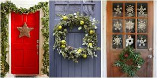 Decoration For Christmas For Office by Christmas Front Door Decorations U2013 Happy Holidays