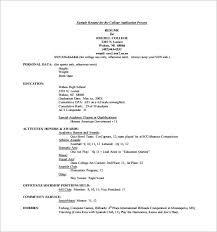 Sample Resume Of A College Student by College Resumes College Resume Example Sample College Resume 8