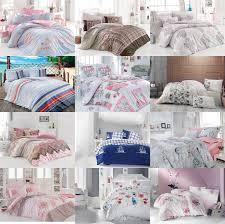 floral duvet cover 100 cotton soft bedding set reversible queen