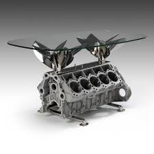 engine tables created from rare racing engines ornamentum designs