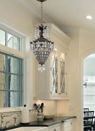 crystal pendant lighting for kitchen image of beautiful light for over kitchen sink using swarovski