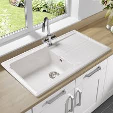 kitchen sinks farmhouse white porcelain sink rectangular almond