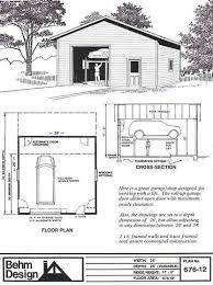 Typical Floor Framing Plan by Garage Plans 1 Bay Oversized Automotive Lift Garage Plan 676 12