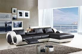 Modern Furniture Pictures by Black Leather Couch Decoro T35 Modern Black Sectional Sofa