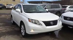 lexus rx 350 used for sale toronto pre owned white on parchment 2010 lexus rx 350 awd touring
