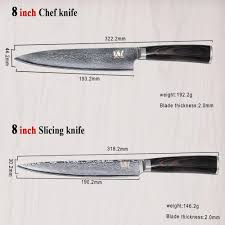 global japanese vg10 damascus kitchen knife set 5 inch utility 8