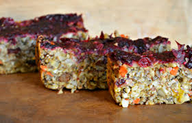 nut loaf with cranberry sauce a vegetarian entree the
