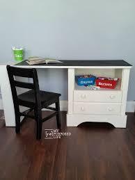 kid u0027s chalkboard desk using repurposed nightstand my repurposed