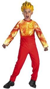 Halloween Costumes Kids Superhero Human Torch Kids Superhero Costume Costumes