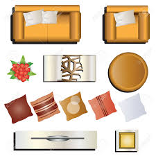 living room furniture view set 7 for interior vector