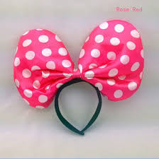 mickey mouse hair bow 5pcs lot kids with led big hair bows minnie mickey mouse