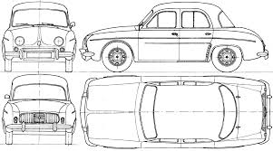 renault dauphine renault dauphine 1962 blueprint download free blueprint for 3d