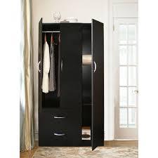 White Armoire Wardrobe Bedroom Furniture Bedroom Interesting Black Armoire Wardrobe With Curtain Design