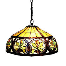 stained glass ceiling light fixtures shop warehouse of tiffany 18 in bronze tiffany style single stained