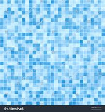 blue mosaic tile seamless pattern background stock illustration