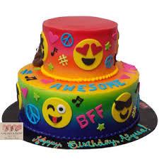 wedding cake emoji 2224 2 tier groovy emoji birthday cake abc cake shop bakery