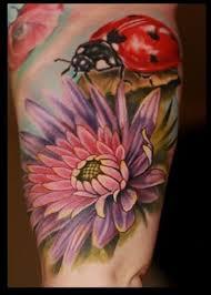 43 ladybug and flower tattoos