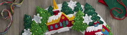 bucilla seasonal home decor u0027 christmas kits merrystockings